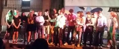 Il gruppo di musicisti che hanno partecipato al Campus