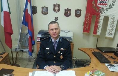 Roberto Macchioni, responsabile della sezione Polizia Locale di Borgaro