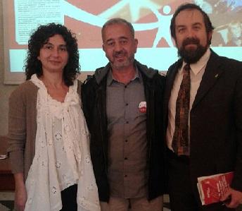 Grimaldi e Baracco insieme a Ossama al Abed al Mohsen