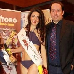La Miss Granata 2015 Claudia Buratto con Daniele Bumma (foto Scaglia)