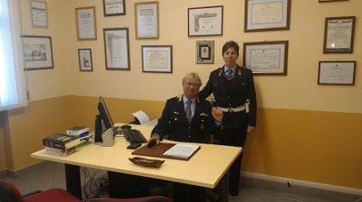 Il coordinatore Mattiello con l'agente Marcatto