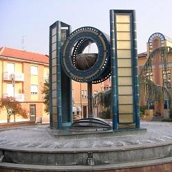 Borgaro Torinese, Piazza Europa orologio ad acqua