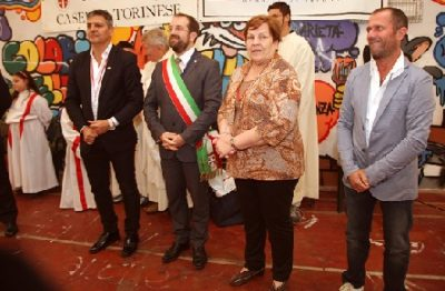 Da sinistra: Luca Baracco, Mirta del Carmen Valarolo e Giuseppe Marsaglia Cagnola