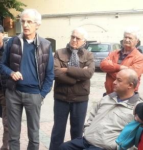 Pierluigi Violetto (il primo a sinistra), Presidente dell'associazione Pilonetto