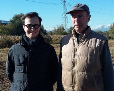 Bruno Morselli (a destra) con Gioacchino Jelmini, membro dello staff organizzativo della TransBorgaro